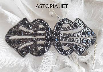 Astoria Jet Brooch