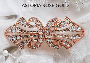 Astoria Rose Gold Brooch