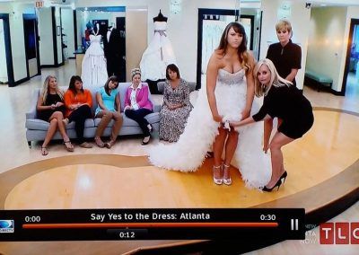 "Bride in Starletta on TV show ""Say Yes to the Dress: Atlanta"""