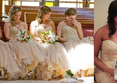"Bridesmaids in Starletta on TV show ""My Fair Wedding"""
