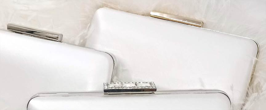 Juliet clutch in silver or gold frame, or silver crystal frame