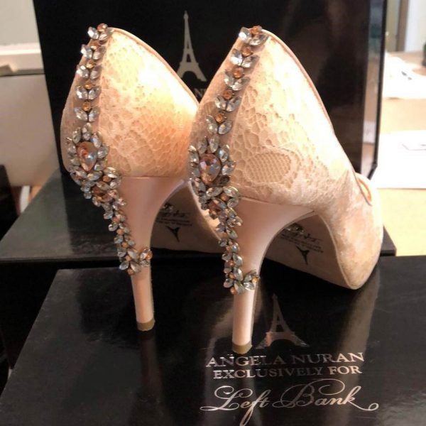 Serafina Blush with back detail of Swarovski crystals.