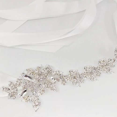 Crystal Leaf Hair Ribbon