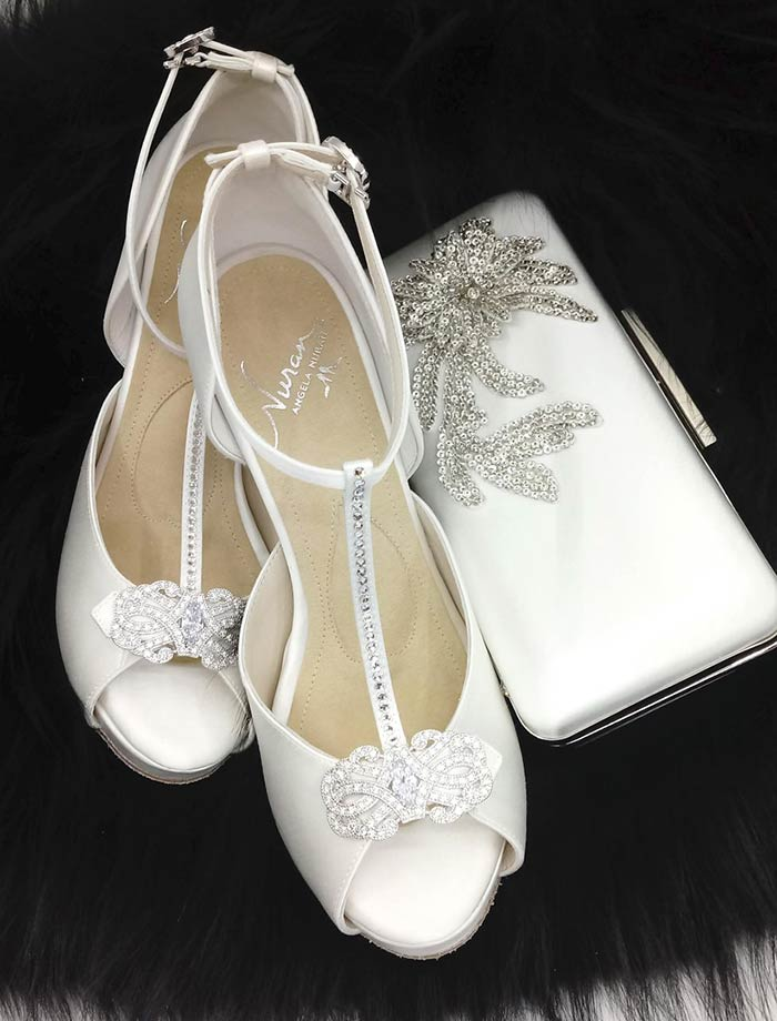 Angela Nuran Shoes and Clutch Customizations