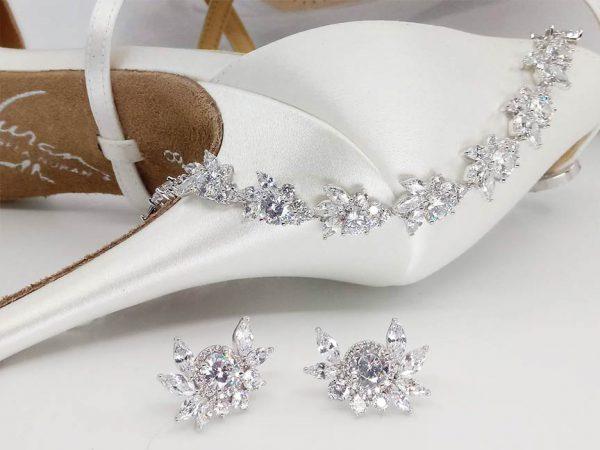 CZ Earrings & Bracelet