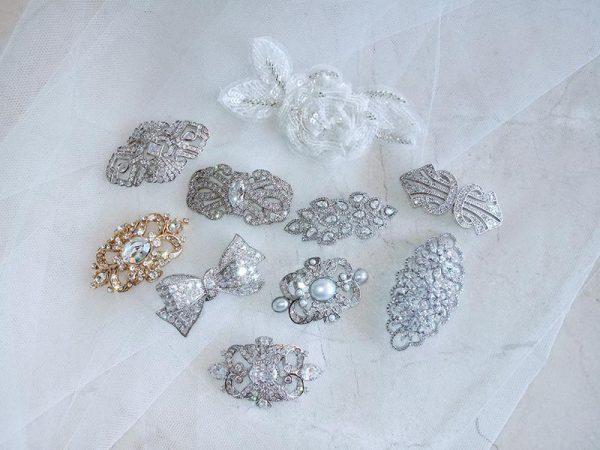 Angela Nuran's brooch collection