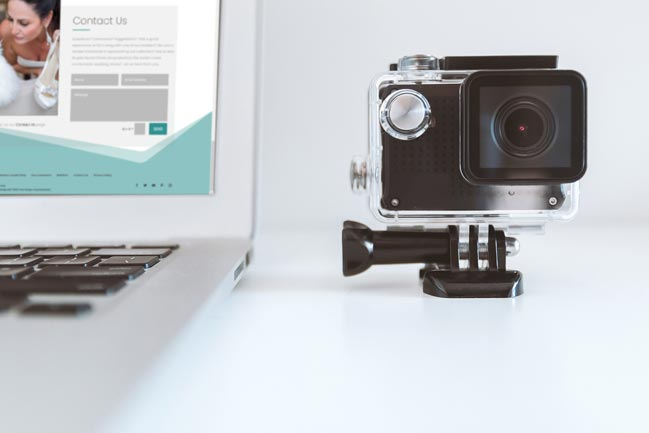 Laptop and a Go Pro